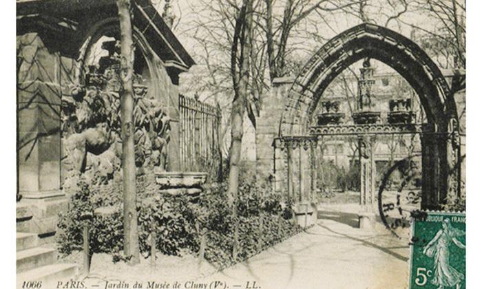 cp-musee-de-cluny-jardin-1-diapo