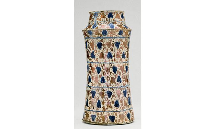 Pot à épices : décor de pampres, 15e siècle, Cl. 2375