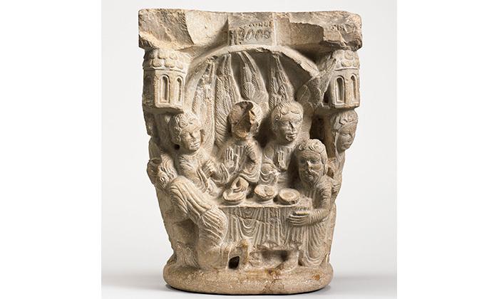 Chapiteau de cloître : épisodes de la vie d'Abraham, 12e siècle, Cl. 19000