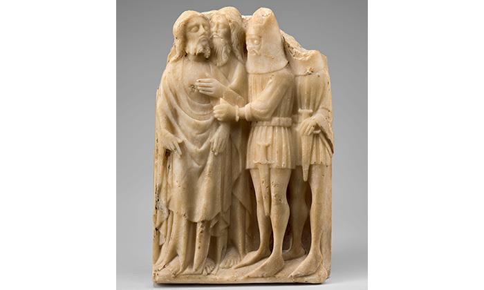 Relief : le baiser de Judas, 15e siècle, Cl. 23419