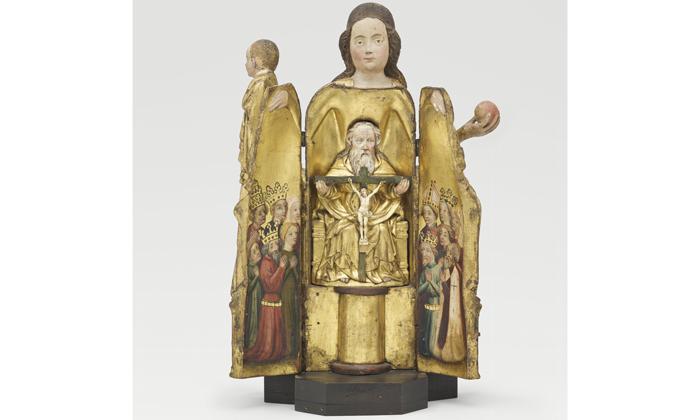 Vierge à l'enfant ouvrante