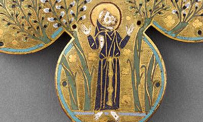 Plaque d'un reliquaire de saint François d'Assise ML84 Mini