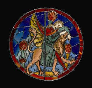 Vitraux de la Sainte-Chapelle. Samson et le Lion (Cl. 2372)