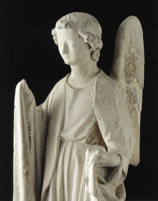 Anges de Poissy : ange tenant les instruments de la Passion (Détail, Cl. 18762)