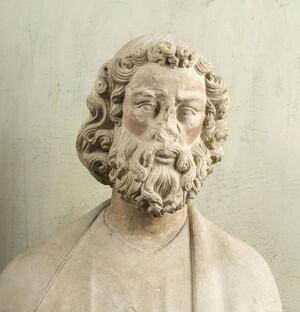 """Apôtre """"à tête de philosophe"""" (Cl. 18667, Détail 3)"""