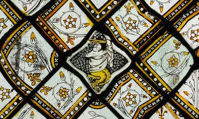 Panneau de grisaille provenant de l'église abbatiale de Saint-Denis Cl. 11473 Mini