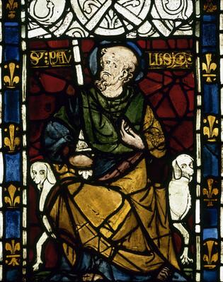 Saint Paul. Vitrail du château de Rouen