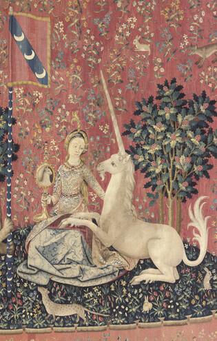 La Dame à la Licorne : la Vue (Cl. 10836, détail)