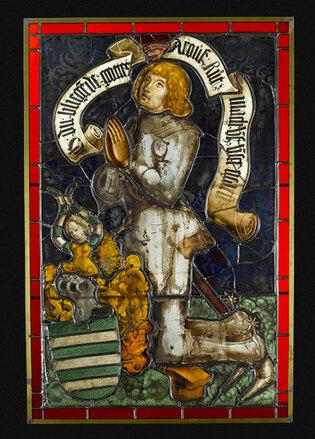 Jacques de Fleckenstein en donateur : vitrail provenant de Haguenau