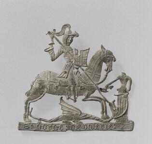 Enseigne de pèlerinage : saint Georges (Cl. 18003)