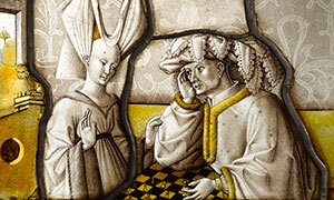 Mini Les joueurs d'échec vitrail 3