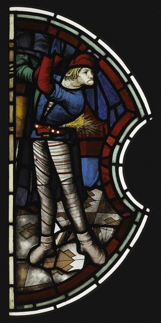 Bourreau vitrail de la Sainte Chapelle