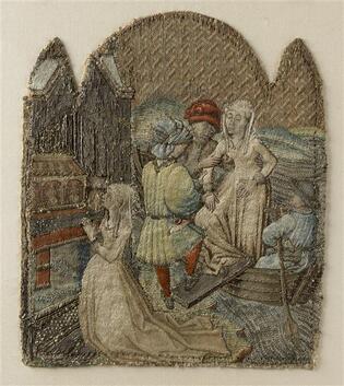 Broderie Miracle de saint Martin (la jeune fille de Lisieux)-1