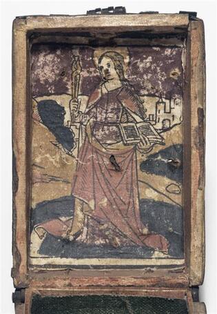 Coffret Avec Une Gravure Colori E De Sainte Apolline 1