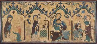 Devant d'autel : Scènes de vies de saints