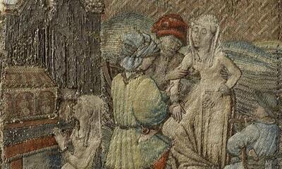 Mini-Broderie Miracle de saint Martin (la jeune fille de Lisieux)-1