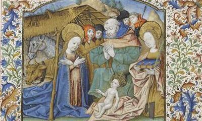 Mini-Feuillet - Nativité en présence de sainte Cécile