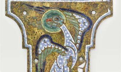Mini-Plaque sommitale de croix - aigle de saint Jean