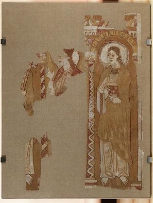 Parement d'autel - apôtres sous arcades