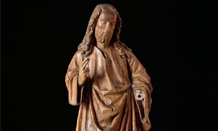 Statue Salvator Mundi-cl 23293 Home